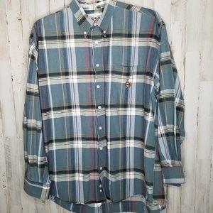 CINCH Western Shirt Button Down Plaid Size XL